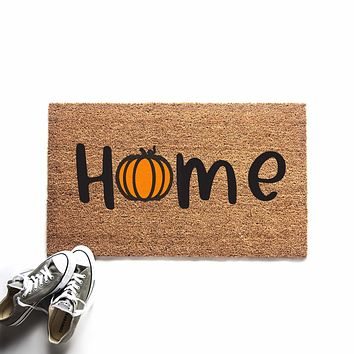 Pumpkin Home Doormat