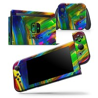 Blurred Abstract Flow V29 - Skin Wrap Decal for Nintendo Switch Lite Console & Dock - 3DS XL - 2DS - Pro - DSi - Wii - Joy-Con Gaming Controller