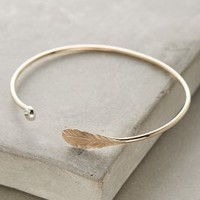 Alana Douvros Mercure Feather Cuff in Gold Size: One Size Bracelets