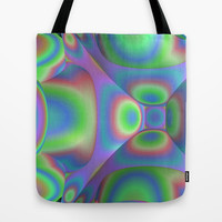 3D-Abstract-Illustration-Pattern Tote Bag by Lyle Hatch