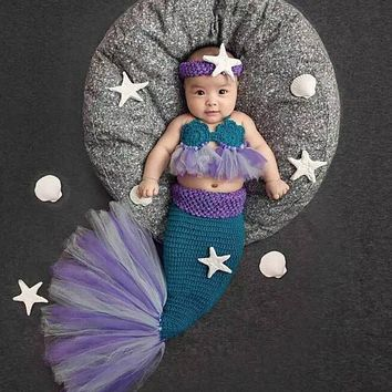 Baby Crochet Mermaid Costume Set