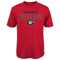 Georgia Bulldogs Fulcrum Performance Tee - Boys 4-7, Size: