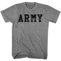 ARMY-ARMY-GRAPHITE HEATHER ADULT S/S TSHIRT