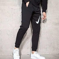 NIKE Popular Leisure Print Noctilucent Casual Pants Sport Running Thick Trousers Sweatpants I-ZDL-STPFYF