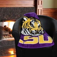 LSU Tigers 50'' x 60'' Purple-Gold Team Spirit Royal Plush Blanket Throw
