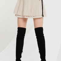 Dasha Lace Bow Pleated Skirt-2 Colors