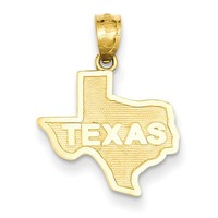 14k State of Texas Pendant C3070