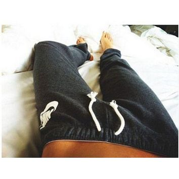"""""""NIKE"""" Stylish Print Thick Sport Stretch Pants Trousers Sweatpants Gym Jogging Exercise Casual Sportswear Grey I"""