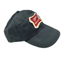 Miller High Life Beer Weathered Look Cotton Navy Baseball Hat Cap One Size