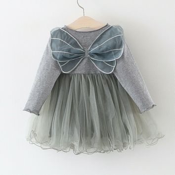 Toddler Newborn Kids Baby Girls 3D Butterfly Wing Princess Tulle Dresses Clothes