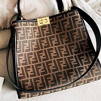 Fendi New fashion more letter canvas shoulder bag handbag crossbody bag