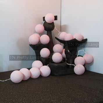 Color : Soft Pink (TN light 006) Cotton ball light 20 balls, Fairy lights, string lights for party decor, wall hanging, children room.