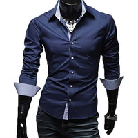 The McCoy Tailored Fit Shirt Navy
