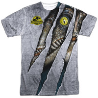 JURASSIC PARK/LIVE RAPTOR -  S/S ADULT 100% POLY CREW - WHITE -