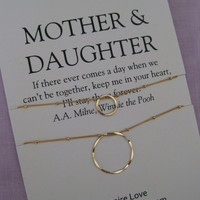 Mom. MOTHER Daughter Jewelry. 50th birthday Gift Mother Daughter Necklace . 60Th BIRTHDAY Mother Daughter. Delicate Gold Eternity Necklace