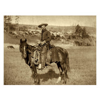 Global Gallery Cow Boy by John C.H. Grabill (Giclee)