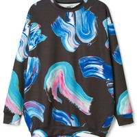 Huge printed sweater   New Arrivals   Weekday.com