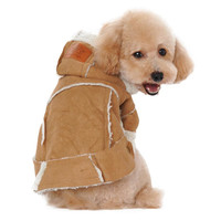 Super Deal dog clothes winter coats and jackets Suede Fabric Dog Clothes Pets Coats Soft Cotton Puppy Dog big dog clothes XT