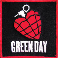 Green Day Men's Embroidered Patch Red