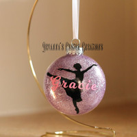 Personalized Ballerina Ornament with Name (can add the year)