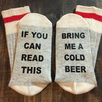 Bring me a beer socks, gift for him, mens stocking stuffer, christmas gift ideas, beer lover gift, craft beer, beer gift, beer lover gift