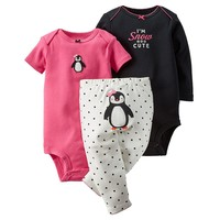 Carter's ''I'm Snow Cute'' Penguin Bodysuit & Pants Set - Baby Girl, Size: