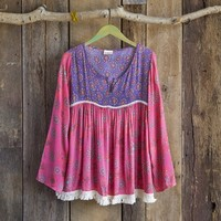 Purple  &  Pink  Indie  Print  Tunic  From  Natural  Life