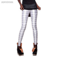 Galaxy Leggings Music Note Staff Print Fabric Women 3D Graphic White Skinny Stretchy Fitness Ankle Length Comfortable Capris 4XL