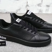 """""""Adidas Neo"""" Fashion Simple Unisex Leather Surface Casual Plate Shoes Sneakers Couple Small White Shoes"""