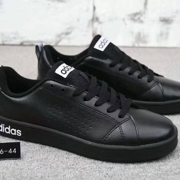 """Adidas Neo"" Fashion Simple Unisex Leather Surface Casual Plate Shoes Sneakers Couple Small White Shoes"