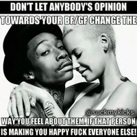Dont let someones opinion of some change how you feel about that person‼️