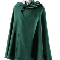 Cool Attack on Titan  Rivaille Levi Cloak Halloween Cosplay Costume no  Survey Corps Scout Regiment Cloak AT_90_11
