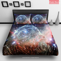 Thor's Helmet Nebula Constellation Canis Major Galaxy Bedding sets Home & Living Wedding Gifts Wedding Idea Twin Full Queen King Quilt Cover Duvet Cover Flat Sheet Pillowcase Pillow Cover 013