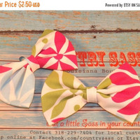ON SALE Fun mulit-colored mini pigtail fabric bow set