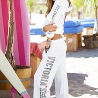 Graphic Fleece Boyfriend Pant - Supermodel Essentials - Victoria's Secret