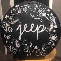 Spring Flowers Jeep Tire Cover