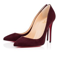 PIGALLE FOLLIES SUEDE, CRAMOISI, Suede, Souliers Femme, Louboutin.