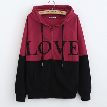 Women's Fashion Winter Hats Long Sleeve Hoodies Jacket [8894745351]