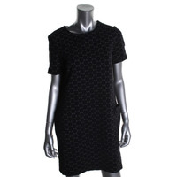 Marc by Marc Jacobs Womens Pattern Short Sleeves Casual Dress