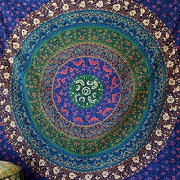 Floral Multi Color Handmade Cotton Fabric Mandala Wall Tapestry Bohemian Boho Wall hanging Bedspread Ethnic Home Decor Art