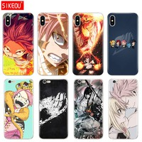 Silicone Cover Phone Case For Iphone 6 X 8 7 6s 5 5s SE Plus 10 Case Anime Fairy Tail Hot Blood