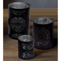 Refreshing 3 piece Iron Votive Candle Holder By Benzara