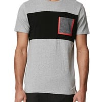 On The Byas Jesse Space Heat Seal T-Shirt - Mens Tee - Gray