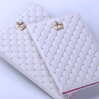 Newest Fashion Crown PU Leather Tablet Case For Apple Series iPad air 2 For iPad 2/3/4 5 Air Case With Wake-UP& Spleep Function