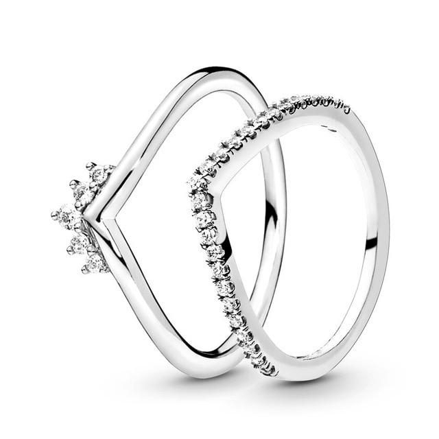 Image of Cubic Zirconia Fashion PrincessCrown Rings