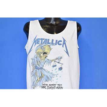 80s Metallica And Justice for All Tank Top t-shirt Large
