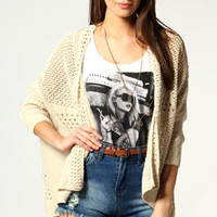 Amy Pointelle Batwing Cardigan