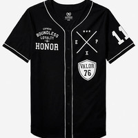 GRAPHIC BASEBALL JERSEY - LOYALTY AND HONOR from EXPRESS