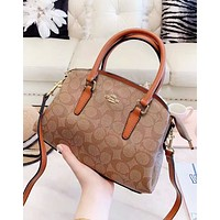 Coach Fashion New Pattern Leather Shopping Leisure Shoulder Bag Handbag Women