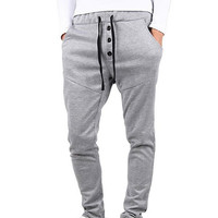 Men's Comfortable Jogging Pants Tracksuit Bottoms Dance Baggy Training Running Trousers
